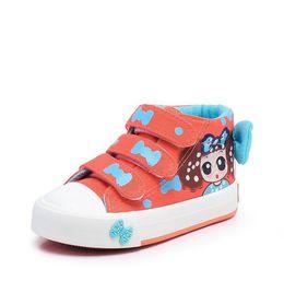 $enCountryForm.capitalKeyWord Australia - 2018 New Canvas Children Sneakers Bowknot Baby Girls Princess Shoes Denim Kids Sneakers Polka Dot Flat Boots for Girls