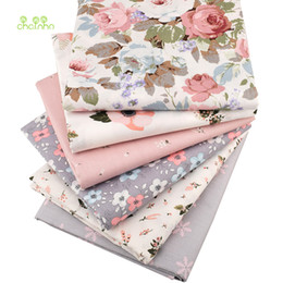 $enCountryForm.capitalKeyWord Australia - Chainho,Print Twill Cotton Fabric,Warm Pink Floral For DIY Quilting Sewing Tissue Of Baby&Child Sheet,Pillow Material,Half Meter