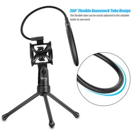 Mic pop screen online shopping - Detachable Desktop Microphone TrStand Holder Bracket Supporter with Mount Mic Holder Dual Layered Wind Pop Screen