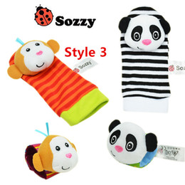 Baby Rattles Australia - 3000pcs New arrival sozzy Wrist rattle & foot finder Baby toys Baby Rattle Socks Lamaze Baby Rattle Socks and wristbands