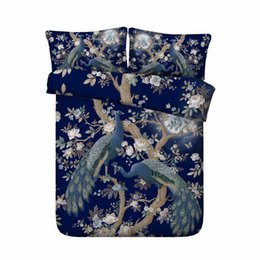 peacock duvet cover NZ - Free shipping 3d animal peacock sheep sloth cat bedding set 1 duvet cover&2 pillow cases twin full queen king super king size
