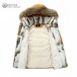 973d2dd374642 Raccoon Fur Warm White Duck Feather Coat Long Winter Jacket Women Down Parka  Plus Size 2018 Rabbit Hair Hooded Outerwear Okd449 Y18101702