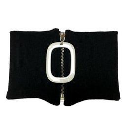 Venta al por mayor de Marca de moda estadounidense Cuello corto collar de cadena Collar fácil Cremallera Hilo de algodón Elástico Desmontable Collar Mujer Bufanda de lujo