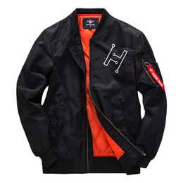 China High Design Air Force One Couple Mens Ma1 Bomber Jacket Pilot Jacket Embroidery Sport Windbreak Sweethearts Outfit Jackrt Coat cheap sweetheart pockets suppliers