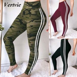 $enCountryForm.capitalKeyWord Canada - Vertvie Women Yoga Pants Striped Sweatpants Female Solid Color Sports Ladies Gym Leggings High Waist Camouflage Print For Woman