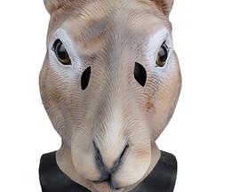 Latex rabbit mask online shopping - Cute Rabbit Latex Mask Animal Head Costume Halloween Popular Party Dress