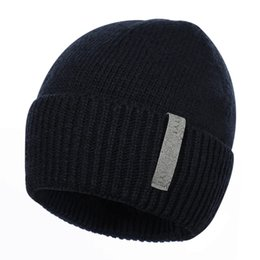 df73748342094 Fashion Mens Hat Winter Spring Plus Velvet Thick Warm Beanie Caps Casual Men  Solid Knitted Skullies Hats Bonnet Gorros