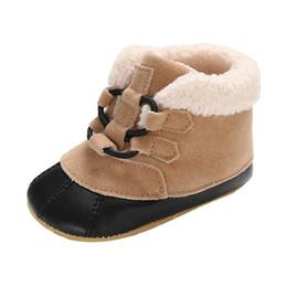 $enCountryForm.capitalKeyWord Australia - baby shoes Infant Newborn Baby Boys Frenulum Snow Boots Winter Boots Prewalker Warm Shoes Soft Soled Non-slip Footwear