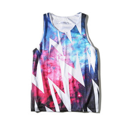 c415167389242 Wholesale free shipping summer men sleeveless Tank Tops mesh surface grid  quick drying 3D personality pattern printed sport vest