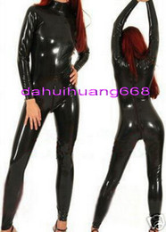 $enCountryForm.capitalKeyWord NZ - Unisex Sexy PVC Body Suit Costumes With Back Long Zipper New 9 Color Shiny PVC Catsuit Costumes Unisex No Head Hand Foot DH206