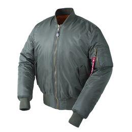 dad0237cd1f92 Plus Size US Air Force Pilot Ma1 Bomber Flight Jacket Men Hip Hop Padded  Letterman Winter Waterproof Nylon Puffer Red Women Coat