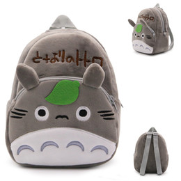 Wholesale plush for sale online – ideas Hot sale CM Cotton My Neighbor Totoro Mini School Bag Plush Backpacks For Baby Gifts NORB002