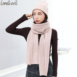 714939d4d81 woman winter hat scarf sets cotton fashion women hat scarf gloves set solid  and set for women knitted sets utdoor