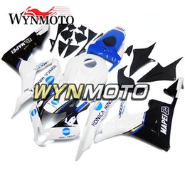 Honda F5 NZ - ABS Injection Bodywork For Honda CBR600RR F5 Year 2007 2008 07 08 Whole Fairing Kit New Black White Blue Fairings