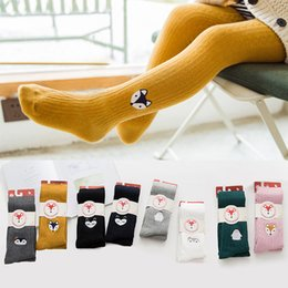 a8192a496ec Black fox animal online shopping - New Autumn Winter Cartoon embroidery Fox  Owl Baby Girl Tights