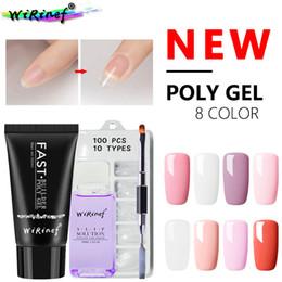WiRinef 30ml Poly Gel Set UV Fast Builder Gel 4pcs Un Kit de 8 colores Camouflage UV Nail Lacquer Nail Tools Set en venta