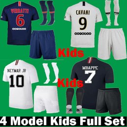 ba25a586066c Black shorts Boys kids online shopping - 2018 Kids Mbappe VERRATTI CAVANI  Children PSG third black