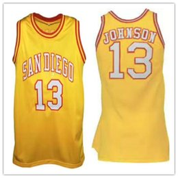ff757a564 13 Magic Johnson san diego yellow Basketball Jersey Men s Embroidery  Stitched Custom any Number and name Jerseys
