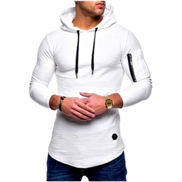 training sweatshirt Canada - New Running Jacket Men Sports Fitness Long Sleeves Hooded Tight Sweatshirt Gym Training Jogging Jacket Coat Tactical Clothing