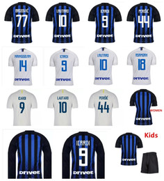 Novo Topo Thai 2019 Inter Jersey 18 19 Camisa de Futebol camisa de Futebol MIU ICARDI Uniformes PERISIC Nainggolan Lauturo Skriniar 2018 Kits Para Crianças