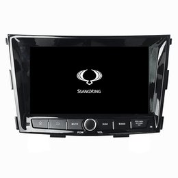 Discount dvd gps ssangyong Car DVD player for SsangYong Tivolan 8inch Andriod 8.0 Octa-core with GPS,Steering Wheel Control,Bluetooth, Radio