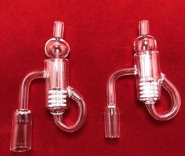 $enCountryForm.capitalKeyWord Australia - Newest Diamond Knot Loop Quartz Banger With Carb Cap 10mm 14mm 18mm Male Female Recycler gear Insert Banger Nails For Glass Bongs Oil Rig