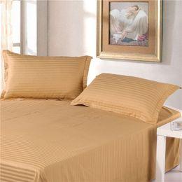 Stripe Knit Fabric Canada - 2pcs 100 %Cotton Premium Satin Stripe Encryption home Fabric Pillow Case 50 *70cm More Specifications
