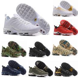 229cb0dbd210d 2018 Pas Cher TN Chaussures de Course pour Hommes Femmes enfants Noir Rouge  Blanc TN Ultra KPU Coussin de Surface Sneakers Trainer Chaussures taille  36-46
