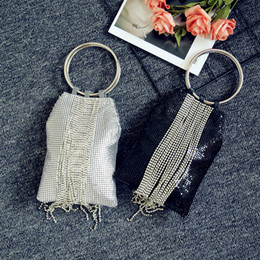 Discount ladies classical bags - 2018 Diamond Long Tassel Lady Clutch Bag England Style Handbags Classical Small Purse Day Evening Clutch Bags Free Shipp