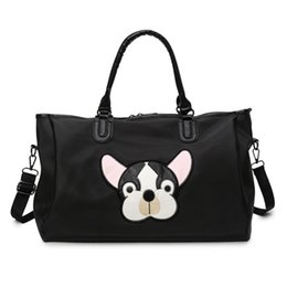 China Wobag Women Waterproof Travel Bag Oxford Dog Head Pattern Unisex Travel Duffel Bag New Lady Large Capacity Luggage supplier dog luggage suppliers
