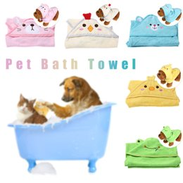 Cartoon Towel Dog Australia - 1PC S M L Puppy Dog Cartoon Pajamas Drying Towel For Dogs Bathrobe Absorbent Shower Dog Cat Bath Towel Blankets