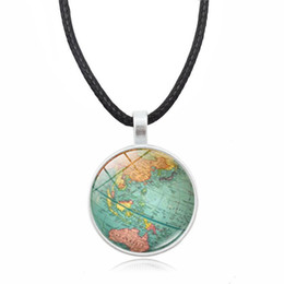 World map accessories online shopping world map accessories for sale retro sweater necklace the world map pendant personalized necklace a good choice for giving gifts or dress with accessories gumiabroncs Images
