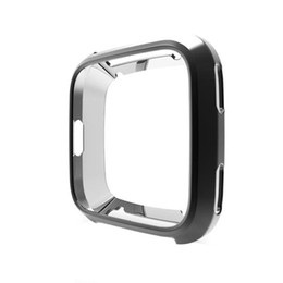 Thinnest Smart Watches UK - Smart watch Ultra-thin Soft Plating TPU Protection Silicone Case Cover For Fitbit Versa watch tools