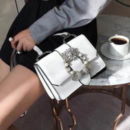 british leather messenger bags 2019 - Fashion New Handbags Quality PU Leather Women bag British Retro Trend Rivet Square bag Ladies Diamond Shoulder Messenger