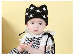 Wholesale New Star Crown Baby Hats for Girls Boys Knitted Stars Newborn Photography Props Baby Cap Colors