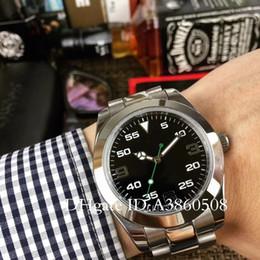 Топ роскошные мужские часы из нержавеющей стали ремешок для часов японский 8215 с автоматическим механизмом AIR KING бизнес часы 40 мм с автоподзаводом механические