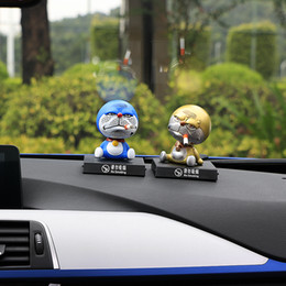 Doraemon toys online shopping - Car Ornaments Shaking Head for Doraemon Toys No Smoking Automobile Interior Dashboard Decoration Accessories Dolls PVC Christmas