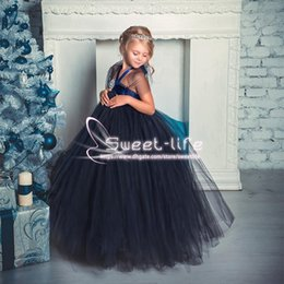 $enCountryForm.capitalKeyWord NZ - Sweety Cute 2018 Ball Gown Flower Girl Dresses Halter with flower empire Tulle Tiered SKirts Floor Length communion Birthday party Girl Gown