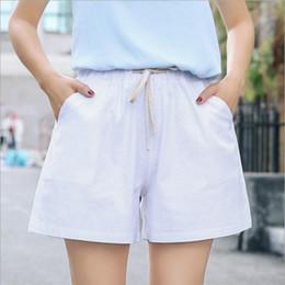 1d1e20f5635 New 2018 Summer shorts women high waist Fashion Loose solid cotton linen  feminino short for women candy color shorts XXL