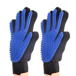 China pet hair glove Comb Pet Dog Cat Grooming Cleaning Glove Deshedding left Right Hand Hair Removal Brush Promote Blood Circulation supplier pet combs hair removal suppliers