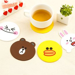 mat rabbit 2019 - TTLIFE Cute Creative Cartoon Silicone Insulation Pad Silicone Pad Rabbit Duck Bear Pattern Cup Coaster Mug Mat cheap mat