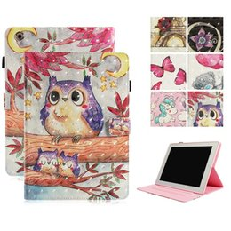 China Wallet Leather Australia - 3D Owl butterfly Pattern Wallet Card Holder Stand PU Leather Smart Case for iPad 5 6 8 9.7 2017 2018 iPad Mini 123 4 Samsung