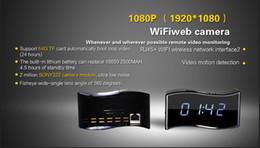 $enCountryForm.capitalKeyWord NZ - 1080P P2P Wif Wireless Camera Alarm Clock RJ45 DVR Remote Security Cameras Mini Video Recorder IR Night Vision for iOS Android View 160° Len