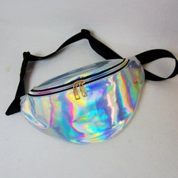Wholesale 22 colors Laser waist bag Unisex Metallic Silver Fanny Waist Bag Chest Pack Sparkle Festival Hologram Waist Bag hot new