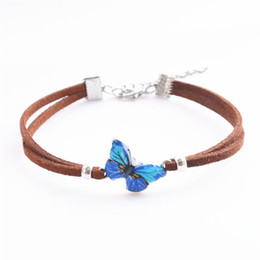 $enCountryForm.capitalKeyWord Australia - New fashion Infinity leather ID wrap bracelet butterfly print for women charm punk Bow bracelets bangels Gift Jewelry pulseras