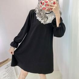 $enCountryForm.capitalKeyWord Canada - 2018 Japanese Lolita Cute Black Dress Women Autumn Harajuku Gothic Sweet Bow Lace Vestidos Vintage Loose Girls Kawaii Mini Dress