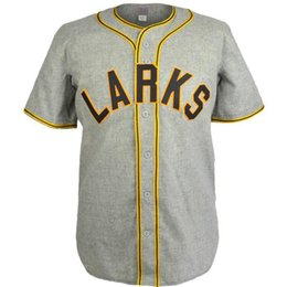 China Oakland Larks 1946 Road Jersey 100% Stitched Embroidery Logos Vintage Baseball Jerseys Custom Any Name Any Number Free Shipping cheap embroidery baseball jerseys suppliers