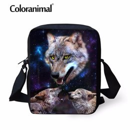0df606ceb55f Discount wolf backpacks - Coloranimal Women Men Mini Messenger Bag Teenager  Bady Shoulder Bags Cool Animal