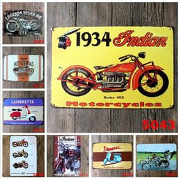 vintage motorcycle tin signs NZ - Vintage Metal Tin Signs For Wall Decor Motorcycle Route 66 Iron Paintings 20*30cm Metal Signs Tin Plate Pub Bar Garage Retro Home Decoration