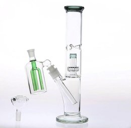 China Beaker Glass Pipe With Ash-Catcher Downstem 14.4mm Cheap Two Function Glass Bong Dab Rig 12.5 Inch Glass Water-Pipe Inline Birdcage Percola cheap 12.5 inch suppliers
